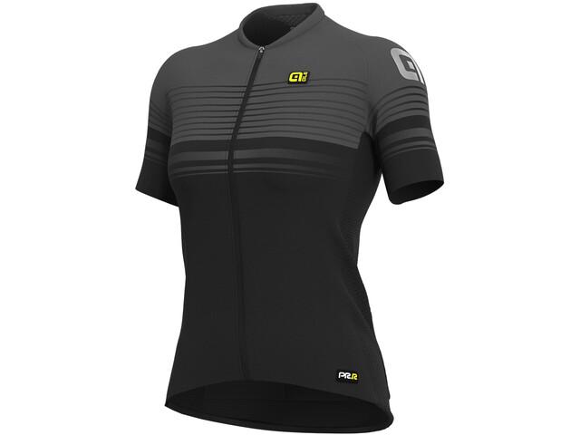 Alé Cycling Graphics PRR Slide SS Jersey Dame black/charcoal grey